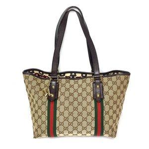 Authentic Gucci brown monogram canvas tote bag